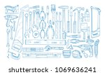 collection of manual and...   Shutterstock .eps vector #1069636241