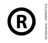 registered trademark symbol | Shutterstock .eps vector #1069637111