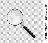 magnifying glass vector... | Shutterstock .eps vector #1069637684