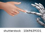 3d robitic digitial world | Shutterstock . vector #1069639331