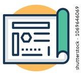 business project framework... | Shutterstock .eps vector #1069646069