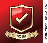 security shield illustration... | Shutterstock .eps vector #1069650059
