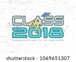graduation label.  text for...   Shutterstock . vector #1069651307