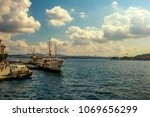 city of istanbul on a cloudy day   Shutterstock . vector #1069656299
