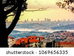 city of istanbul on a cloudy day   Shutterstock . vector #1069656335