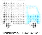 shipment van halftone vector... | Shutterstock .eps vector #1069659269