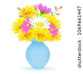 bouquet of colorful flowers in... | Shutterstock .eps vector #1069661447