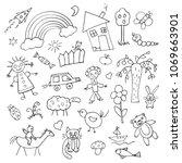 collection of children's...   Shutterstock .eps vector #1069663901