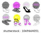 vector illustration of seamless ... | Shutterstock .eps vector #1069664051