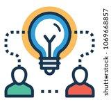 mind collaboration idea vector ... | Shutterstock .eps vector #1069668857