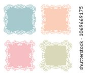 classic frame set with... | Shutterstock .eps vector #1069669175