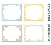 classic frame set with... | Shutterstock .eps vector #1069669181