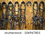 Leather Horse Bridles And Bits...