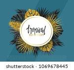 trendy summer banner  poster... | Shutterstock .eps vector #1069678445