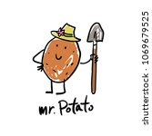 logo with the image of potatoes ... | Shutterstock .eps vector #1069679525