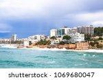 coastline costa dorada  salou ... | Shutterstock . vector #1069680047