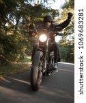 man seat on high power... | Shutterstock . vector #1069683281
