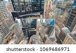 viewing manhattan with laptop... | Shutterstock . vector #1069686971