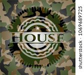 house on camouflage texture | Shutterstock .eps vector #1069689725