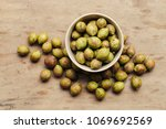 ceylon oak on wooden table... | Shutterstock . vector #1069692569