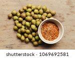 ceylon oak on wooden table... | Shutterstock . vector #1069692581