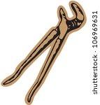 tweezers building tool   Shutterstock .eps vector #106969631