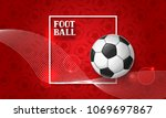 soccer or football banner with... | Shutterstock .eps vector #1069697867