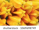 carambola or star apple fruit | Shutterstock . vector #1069698749