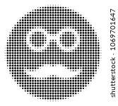pension smiley halftone vector... | Shutterstock .eps vector #1069701647