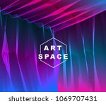 vector illusive surreal art... | Shutterstock .eps vector #1069707431