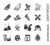 charcoal icon set | Shutterstock .eps vector #1069709267