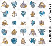 3d engineering vectors ... | Shutterstock .eps vector #1069712531