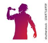 superstar performance vector... | Shutterstock .eps vector #1069716959