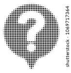 help balloon halftone vector... | Shutterstock .eps vector #1069717364