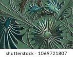 flower background in fractal... | Shutterstock . vector #1069721807