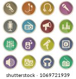 musical equipment web icons in... | Shutterstock .eps vector #1069721939