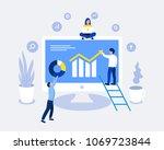 data analysis design concept.... | Shutterstock .eps vector #1069723844
