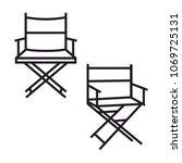 simple minimalist movie film... | Shutterstock .eps vector #1069725131