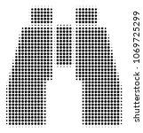 find binoculars halftone vector ... | Shutterstock .eps vector #1069725299