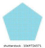 filled pentagon halftone vector ...   Shutterstock .eps vector #1069726571