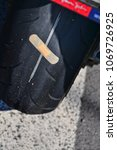 Small photo of problem on the road again crack in the rear wheel rubber tires