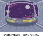 illustration of a spaceship... | Shutterstock .eps vector #1069728257