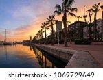 beautiful port of alicante ... | Shutterstock . vector #1069729649