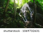 natural waterfall forest...   Shutterstock . vector #1069732631
