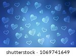 light blue vector texture with... | Shutterstock .eps vector #1069741649
