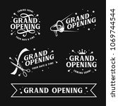 grand opening templates set.... | Shutterstock .eps vector #1069744544