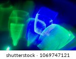 abstract bright blue green...
