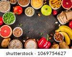 diet food background concept ... | Shutterstock . vector #1069754627