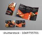 design of a vector tri fold... | Shutterstock .eps vector #1069755701