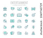 collection of entertainment... | Shutterstock .eps vector #1069760729
